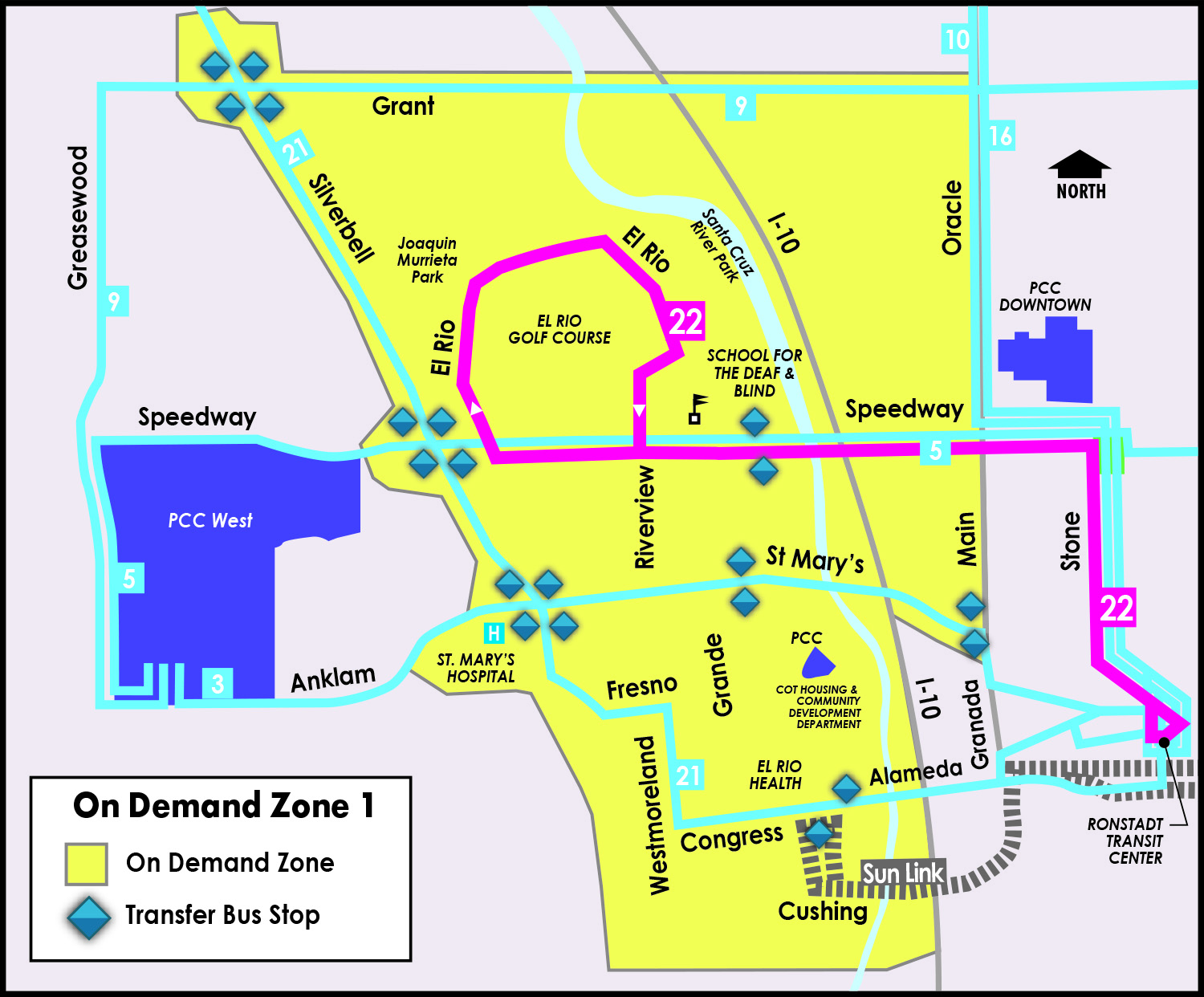 map of zone 1