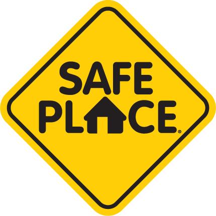 a safe place street sign