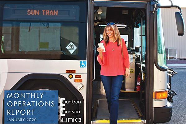 report cover passenger standing in open bus door