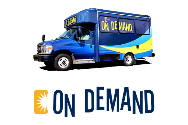 sun on demand vehicle and logo
