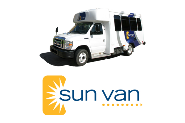 sun van vehicle and logo