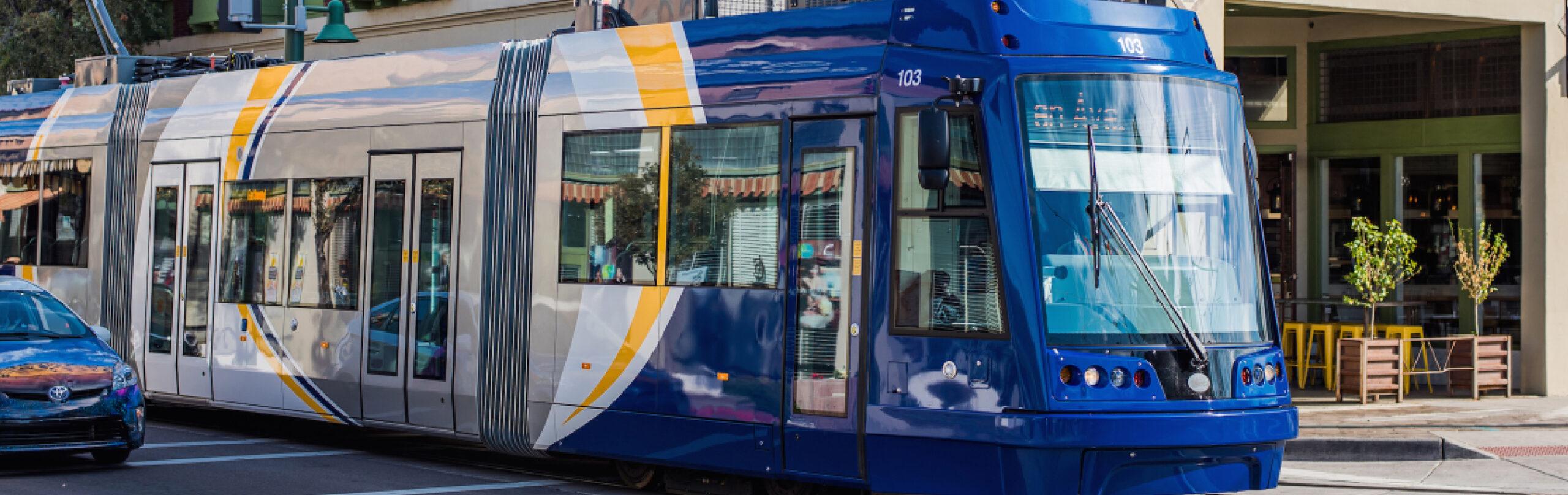 closeup of streetcar